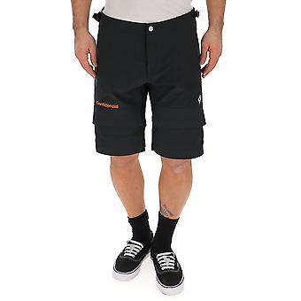 Marcelo Burlon Black Polyester Shorts
