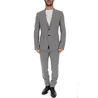 Dsquared2 White/black Cotton Suit