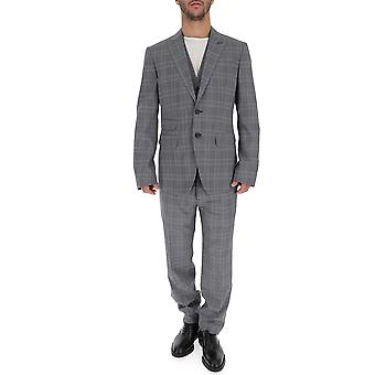 Dsquared2 Grey Cotton Suit