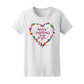 Valentine Day To You Heart Candy Tee Women's -Image by Shutterstock