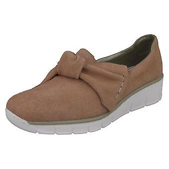 Damen Rieker Bogen detaillierte hochhackige Schuhe 537Q4