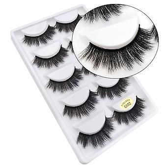 5-pair false eyelashes-3D faux mink-G802