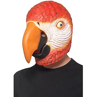 Accesorio de loro de máscara de látex máscara completa carnaval pájaro de loro