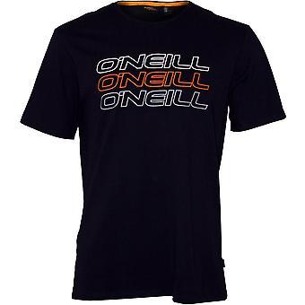 O'Neill Triple Logo Crew-Neck T-Shirt, Ink Blue