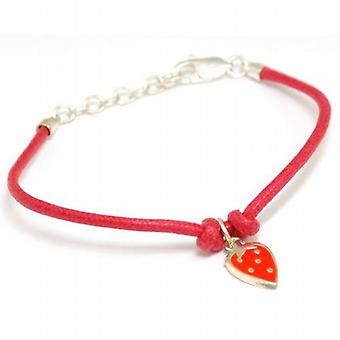 Scribble Strawberry Dreams Bracelet on Red Cord