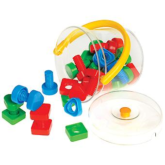 Gowi Toys Nuts and Bolts in a Bucket Construction Building Set Tools Kid's Toys