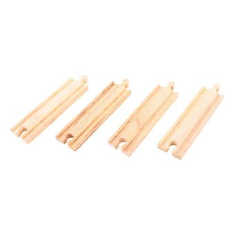 Bigjigs Rail Wooden Medium Straights (Pack of 4) Train Track Expansion Set