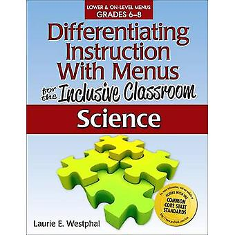 Differentiating Instruction with Menus for the Inclusive Classroom - S