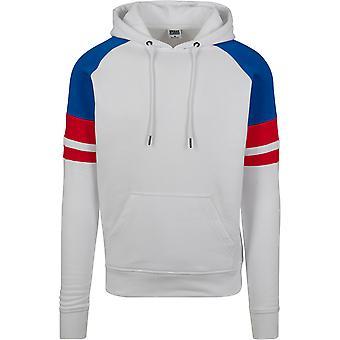 Urban Classics Men's Hooded sweatshirt Raglan Racing