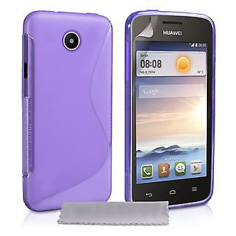 Caseflex Huawei Ascend Y330 Silikon Gel SLine Case Purple