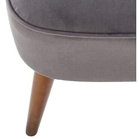 Armloze stoffen fauteuil - grijs