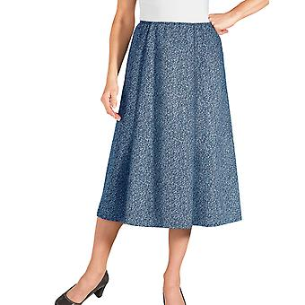 Ladies Womens Tweed Effect Skirt Length 27 Inches
