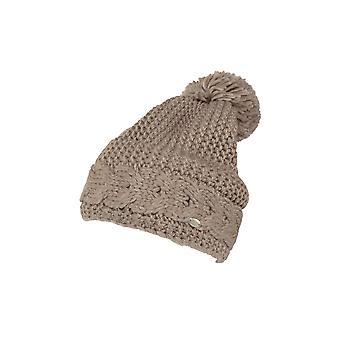 Pikeur Cable Knit Bobble Hat - Light Taupe