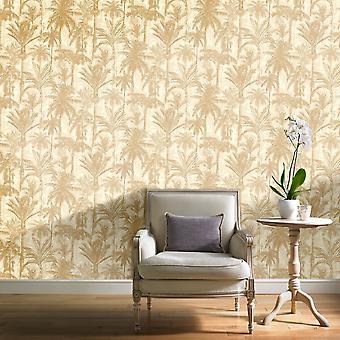 Grandeco botaniske trær mønster bakgrunn Forest Leaf moderne metallic teksturert BA2303