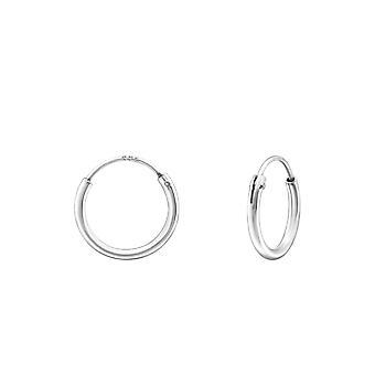 Hoop - 925 Sterling Silver Ear Hoops - W8435X