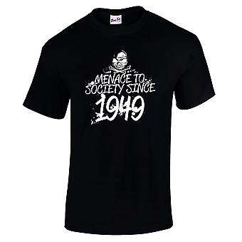 Men's 70th Birthday T-Shirt Meanace Since 1949 Gifts For Him