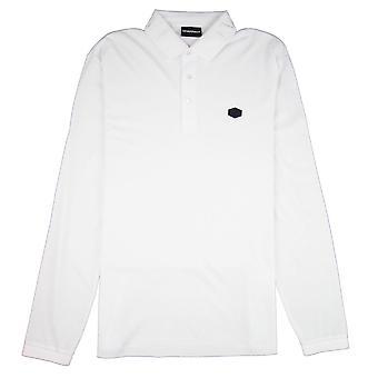Emporio Armani Collar logo manga comprida Polo branco