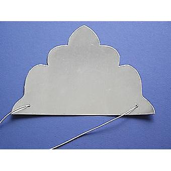 SALE - 30 Silver Mirror Card Tiaras to Decorate   Crown Making Crafts for Kids