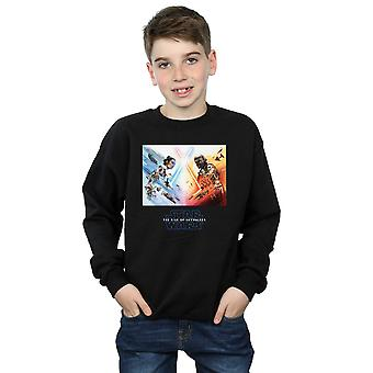 Star Wars The Rise Of Skywalker Battle Poster Boys Sweatshirt