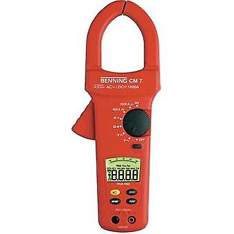 Current clamp, Handheld multimeter digital Benning CM 7 Calibrated to: Manufacturer standards CAT IV 600 V Display (cou