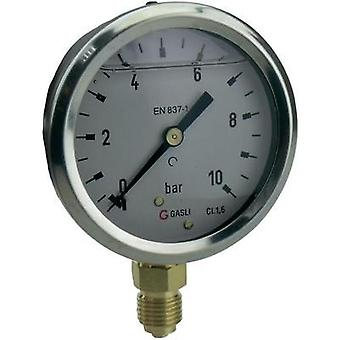 Manometer ICH 63R-1.MGE Glycerin Bottom -1 up to 0 bar External thread 1/4