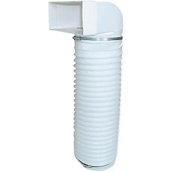 Flat channel ventilation system 125 mm Bend with hose Wallair N15896