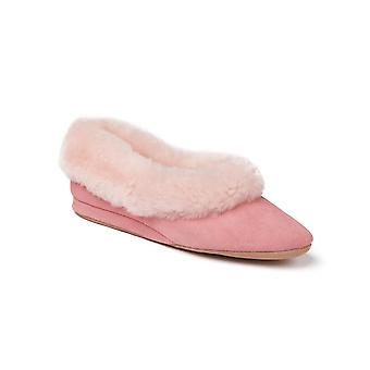 Ladies Seaforth Sheepskin Slippers - Rose