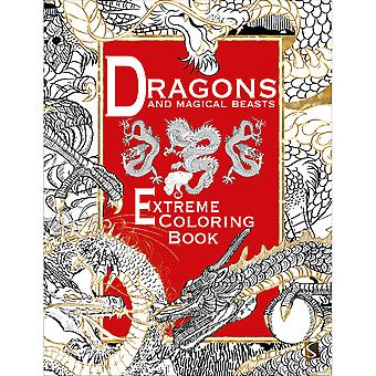 Sterling Publishing-Extreme Coloriage Dragons & Magcl Bs STP-06282