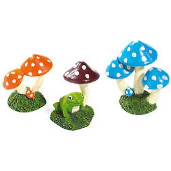 Classic For Pets Mushroom Asst 70 Millimetri 12Pcs (Pesci , Decorazioni , Adorni)