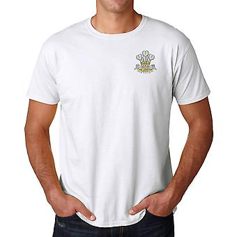 The Prince Of Wales Leinster Reg Embroidered Logo - Official British Army Cotton T Shirt