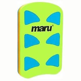 Maru Performance Kickboard - Turquoise/Orange/Lime