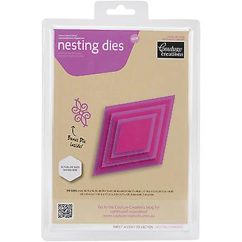 Couture Creations Nesting Dies-Diamonds CO723958