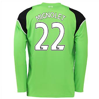 2016-17 Liverpool Home Goalkeeper Shirt (Mignolet 22) - Kids