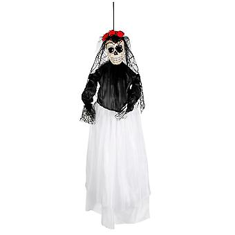 Spooky Day Of The Dead Bride Hanging Halloween Decoration 90cm