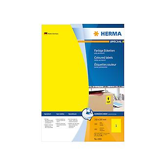 Labels yellow A4 210 x 297 Herma 100 pcs.