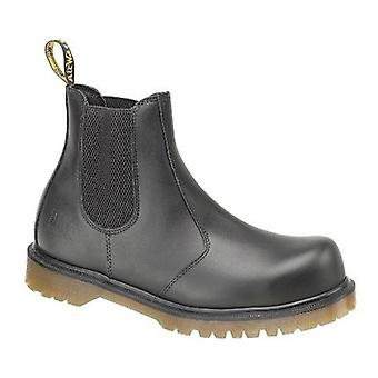 Dr Martens FS27 Unisex Dealer Safety Boots Textile Leather PVC Sole Slip On Shoe