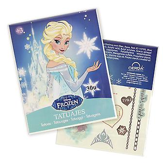 Officially Licensed | DISNEY FROZEN | 4 Sheets Temporary Tattoos | Blue Pack