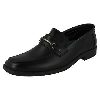 Mens Malvern Flat Slip On Saddle Trim With Metal Detail Shoes