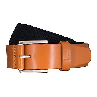 Lee belts men's belts textile woven belt blue/Cognac 5423