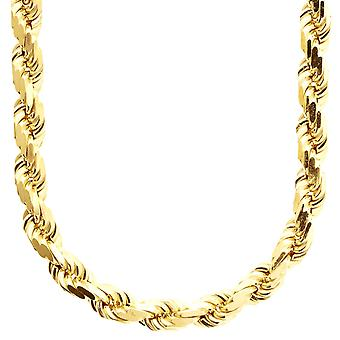 Sterling 925 Silver bling cord chain - ROPE DC 8 mm gold