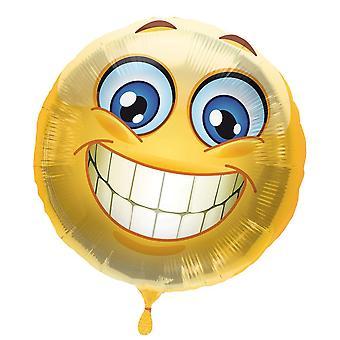 Folie ballon Smiley med smiley helium ballon 43 cm ballon