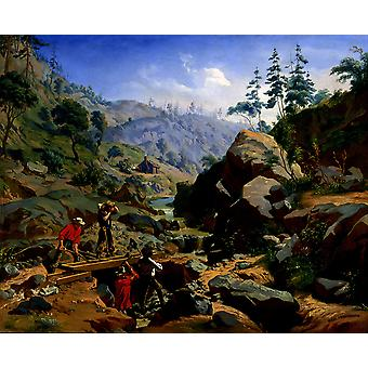Charles Christian - Nahl Miners in the Sierras Poster Print Giclee