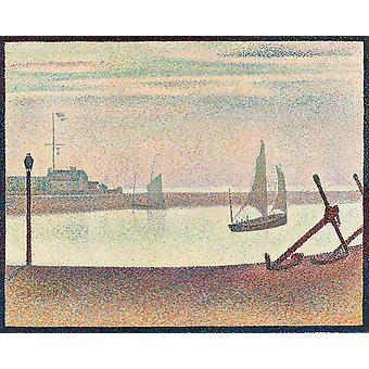 Georges Seurat - Kanal bei Gravelines Abend Poster Print Giclee