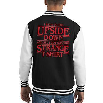 Sono andato a Varsity Jacket del capretto cose sottosopra straniero