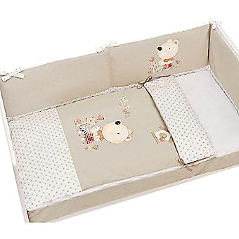 Interbaby krybbe Quilts Saco natur + chichonera