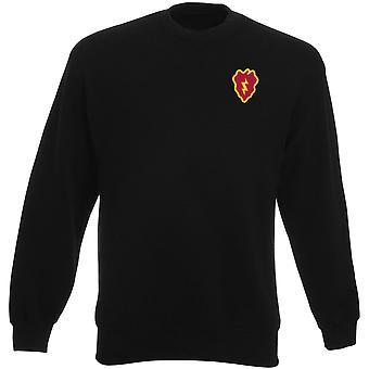 US Army 25th Infanteriuppdelning broderad Logo - Heavyweight tröja