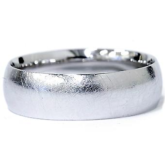 Mens 6mm Designer Finish Platinum Wedding Band