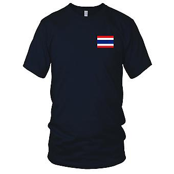 Thailand Thai Land Nationalflagge - Stickerei Logo - 100 % Baumwolle T-Shirt Damen T Shirt