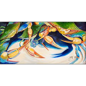 Krabben Sie, Krebse Indoor oder Outdoor Runner Matte 28 x 58 tanzen