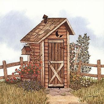 Dépendance de jardin j'ai Poster Print par Linda Spivey (12 x 12)